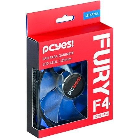 COOLER PARA GABINETE 120MM AZUL FURY F4120LDAZ - PCYES