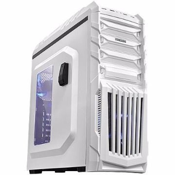 GABINETE GAMER TIGER BRANCO COM LED AZUL - PCYES