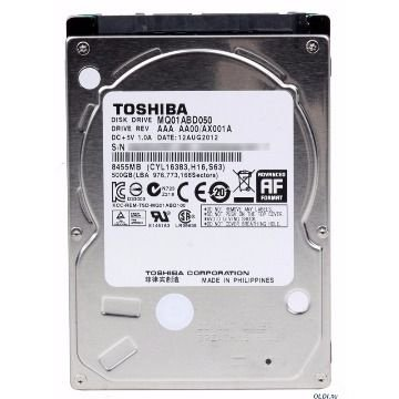 DISCO RIGIDO P/ NOTEBOOK 500GB SATA 3 5400RPM MQ01ABF050M - TOSHIBA