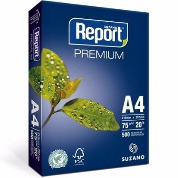 PAPEL A4 BRANCO 500 FOLHAS 75G PREMIUM - REPORT