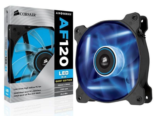 COOLER PARA GABINETE AF120 120MM LED AZUL CO-9050015-BLED - CORSAIR