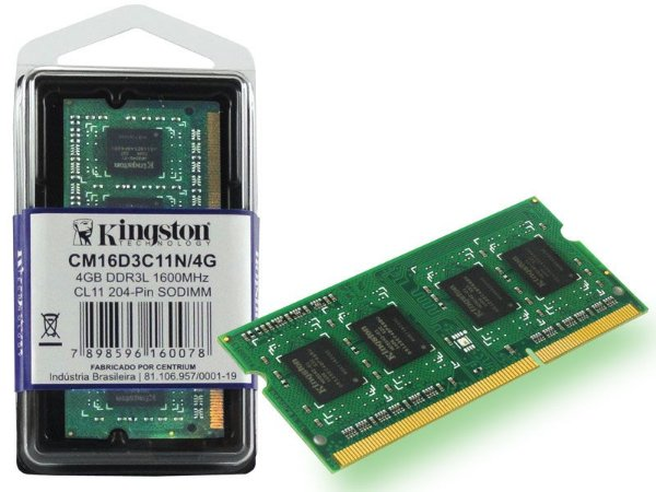 MEMORIA RAM NOTEBOOK DDR3 1600MHZ 4GB CM16D3C11N/4G - KINGSTON