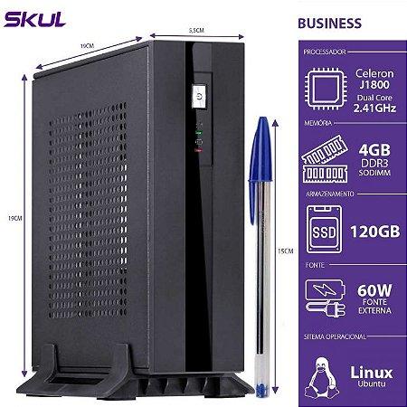 MINI COMPUTADOR CELERON 2.41GHZ 4GB 120GB SSD B100 - SKUL