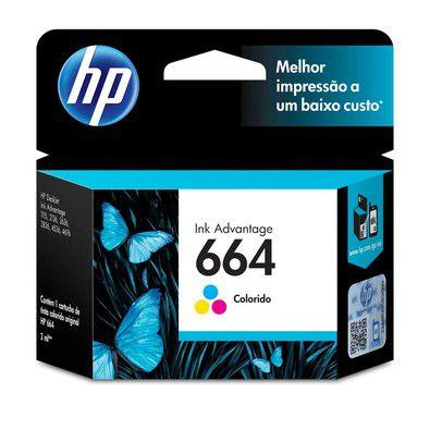 CARTUCHO DE TINTA HP 664 TRICOLOR - F6V28AB