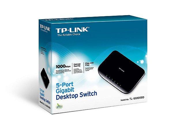 SWITCH 5 PORTAS 10/100/1000 GIGABIT TL-SG1005D - TP-LINK