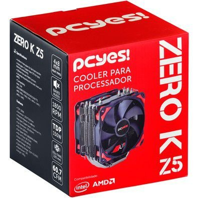 AIR COOLER PARA CPU ZERO K Z5 ACZK5120 - PCYES