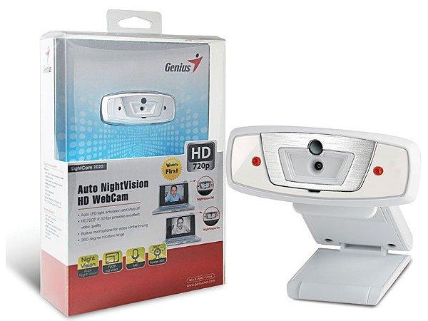 WEBCAM LIGHTCAM 1020 HD 720P C/ MICROFONE AUTO NIGHTVISION - GENIUS