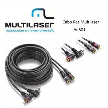 CABO RCA 5 METROS COM TERRA E PLUG EMBORRACHADO - MULTILASER