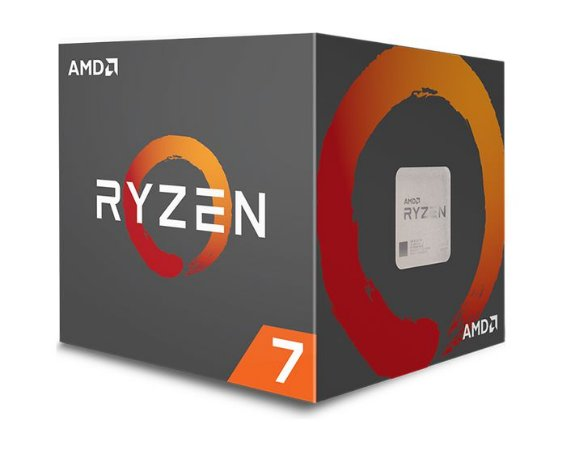 PROCESSADOR AMD RYZEN 7 1700 3.0GHZ TURBO 3.7GHZ 20MB CACHE AM4
