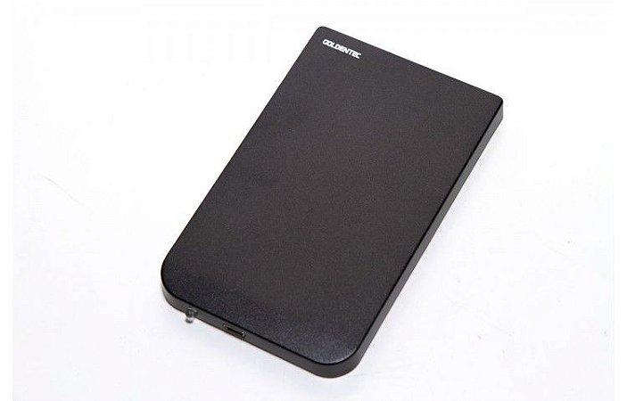 """CASE PARA HD 2.5"""" EXTERNO PRETO GTHD2.5 USB - GOLDENTEC"""