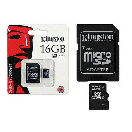 CARTÃO DE MEMORIA 16GB CLASS 10 MICROSD C/ADAP. SD SDC10G2/16GB - KINGSTON