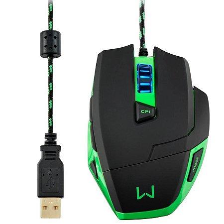 MOUSE USB GAMER WARRIOR 3200 DPI MO245 - MULTILASER