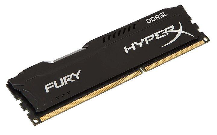 MEMORIA RAM DDR3L 4GB 1600MHZ HYPER X FURY BLACK LOW VOLTAGE 1.35V HX316LC10FB/4 - KINGSTON