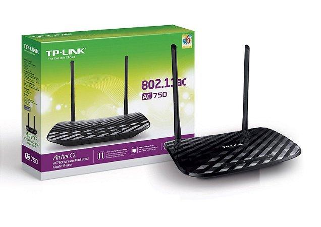 ROTEADOR WIRELESS 750MBPS GIGA 4-LAN/1-WAN/1-USB 2 ANTENAS REM. ARCHER C2 - TP-LINK