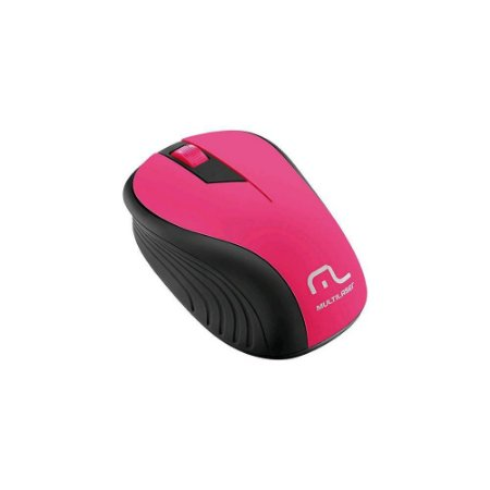 MOUSE WIRELESS WAVE PRETO/ROSA MO214 - MULTILASER