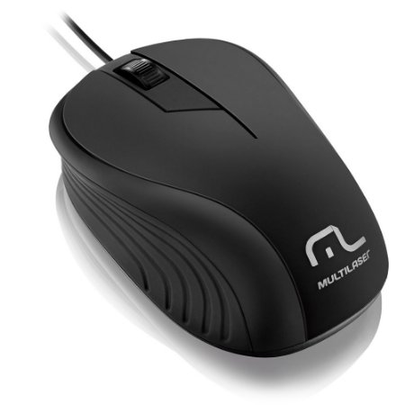 MOUSE USB WAVE EMBORRACHADO PRETO MO222 - MULTILASER
