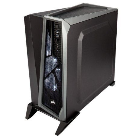 GABINETE GAMER SPEC ALPHA PRETO/SILVER CC-9011084-WW LED BRANCO - CORSAIR
