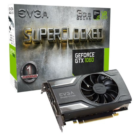 PLACA DE VIDEO GTX 1060 3GB SC ACX2.0 DDR5 03G-P4-6162-KR - EVGA