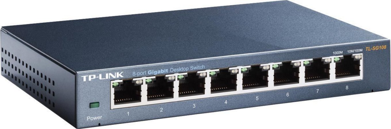 SWITCH 8 PORTAS 10/100/1000 GIGABIT TL-SG108D - TP-LINK