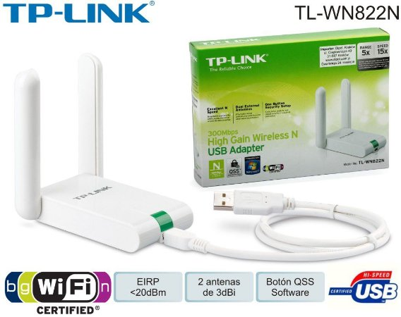 ADAPTADOR WIRELESS USB 300MBPS TL-WN822N - TP-LINK