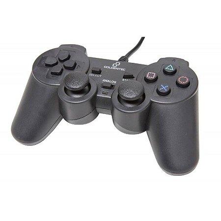 CONTROLE 3 EM 1 COM FIO PS3/PS2/PC - GOLDENTEC