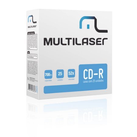 CD-R 52x ENVELOPE CD029 UNIDADE - MULTILASER