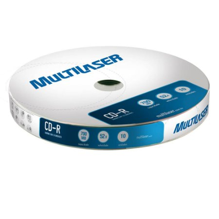 CD-R SHRINK COM 10 PÇS CD027 - MULTILASER
