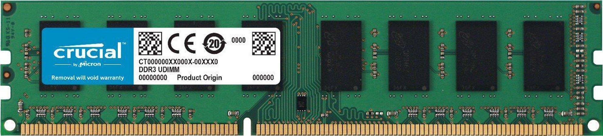 MEMORIA RAM DDR3L 1600MHZ 8GB CT102464BD160B - CRUCIAL BY MICRON