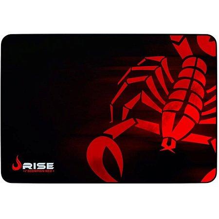 MOUSE PAD GAMER SCORPION RED GRANDE COSTURADO RG-MP-05-SR - RISE