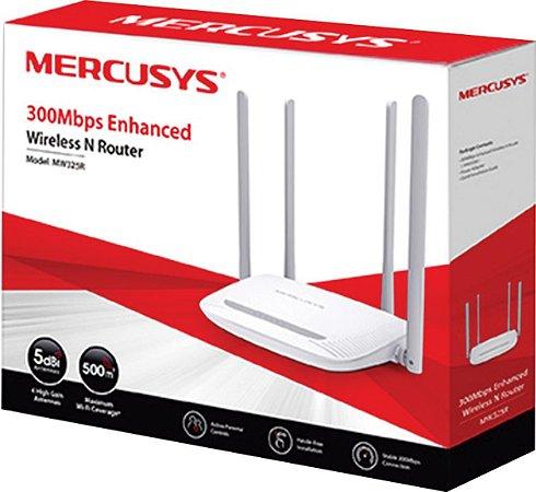 ROTEADOR WIRELESS 300MBPS 4-LAN/1-WAN 4 ANTENAS FIXAS MW325R - MERCUSYS