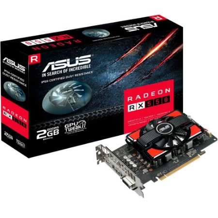 PLACA DE VIDEO RX 550 2GB GDDR5 128BITS RX550-2G - ASUS