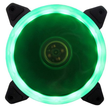 COOLER PARA GABINETE 120MM RING LED VERDE BFR-05G - BLUECASE