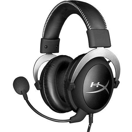 HEADSET GAMER CLOUD PRETO/PRATA COMPATÍVEL COM PC/PS4/XBOX-ON HX-HSCL-SR  - KINGSTON