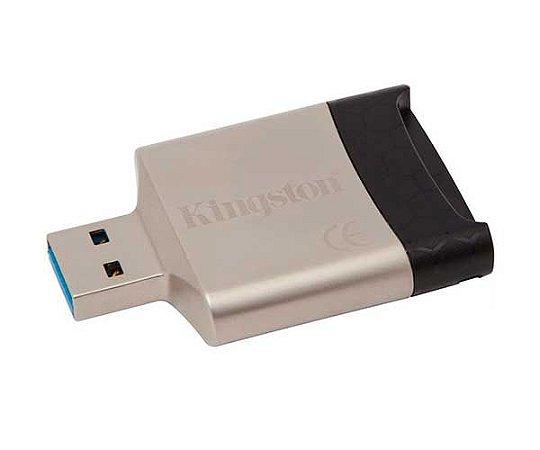 LEITOR DE CARTÃO SD/MICROSD USB 3.0/2.0 FCR-MLG4 - KINGSTON