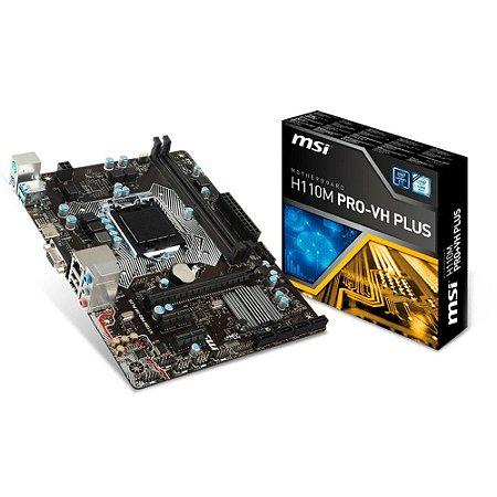 PLACA MAE 1151 H110M PRO-VH PLUS DDR4 HDMI USB 3.1 - MSI