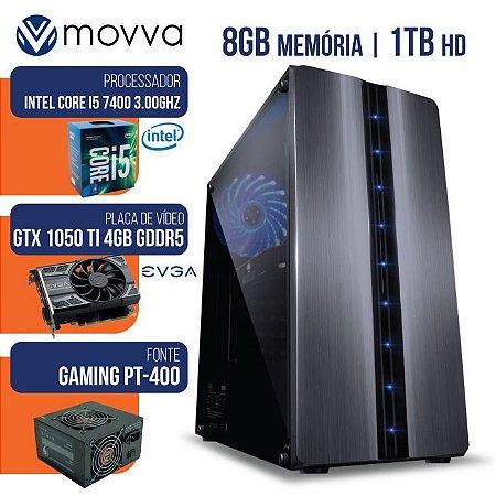 COMPUTADOR GAMER MVX5 I5 7400 8GB 1TB 1050TI 400W - MOVVA