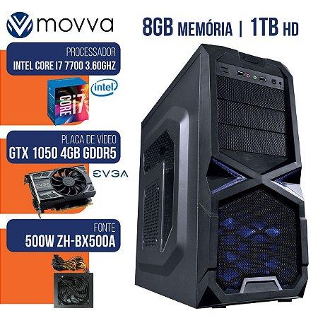 COMPUTADOR GAMER MVX7 I7 7700 8GB 1TB 1050TI 500W - MOVVA