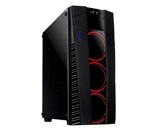 GABINETE GAMER ECLIPSE USB 3.0 VIDRO TEMPERADO LED VERMELHO MCA-FC-ECO9A/RD - MYMAX