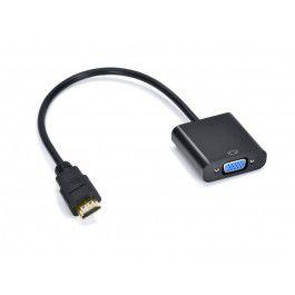 ADAPTADOR CONVERSOR DE VIDEO HDMI MACHO P/ VGA FEMEA 30CM - OEM