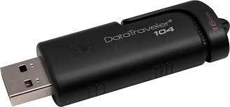 PEN DRIVE DATATRAVELER 16GB USB 2.0 DT104/16GB PRETO - KINGSTON