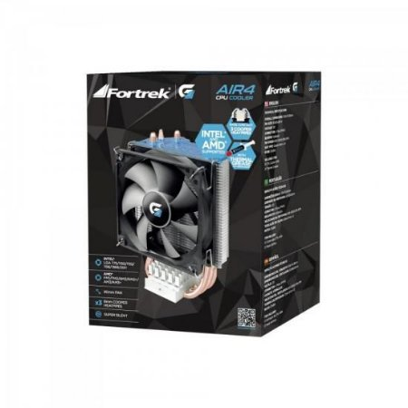 AIR COOLER PARA CPU AIR4 PRETO - FORTREK