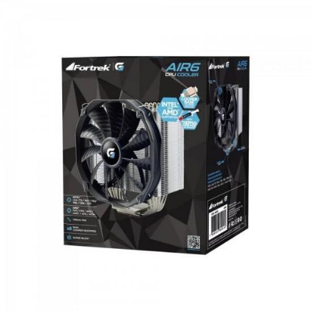 AIR COOLER PARA CPU AIR6 PRETO - FORTREK
