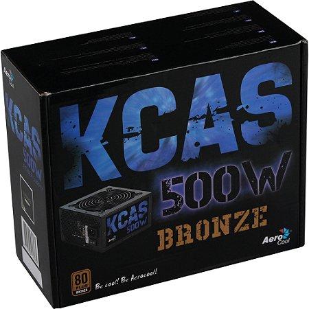 FONTE ATX 500W KCAS 80 PLUS BRONZE  - AEROCOOL