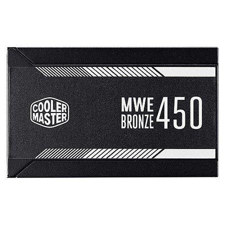FONTE ATX 450W 80 PLUS BRONZE MWE450 - COOLERMASTER