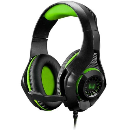 HEADSET GAMER WARRIOR RAMA C/LED VERDE PH299 P2 PS4/XONE - MULTILASER