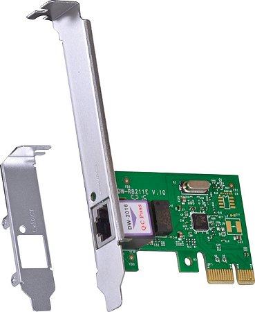 PLACA DE REDE PCI-E 10/100/1000 PRV1000E - VINIK