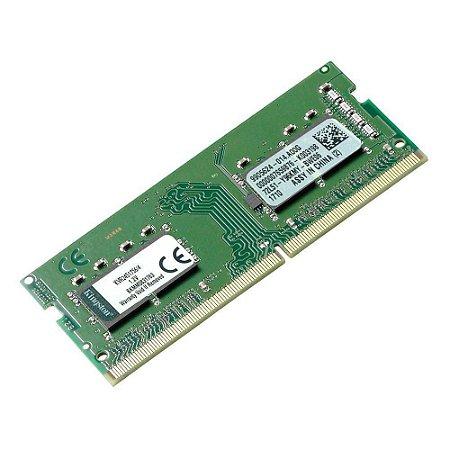 MEMORIA RAM NOTEBOOK DDR4 2400MHZ 4GB KVR24S17S6/4 - KINGSTON