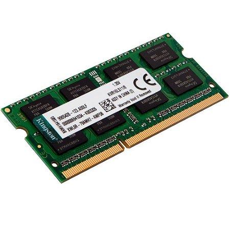 MEMORIA RAM NOTEBOOK DDR3L 1600MHZ 8GB KVR16LS11/8 CL11 - KINGSTON