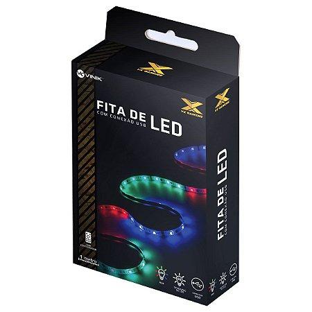 FITA DE LED RGB 1M USB C/ CONTROLE LRU1 - VINIK
