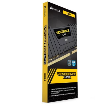 MEMORIA RAM DDR4 2400MHZ 8GB VENGEANCE LPX CMK8GX4M1A2400C16 PRETA - CORSAIR